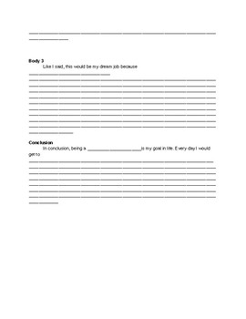 Careers/SPED Essay Outline
