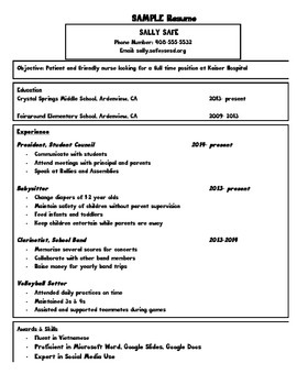 Careers: Sample Resume and Resume Template