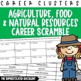 Careers Word Scramble - Ag, Food and Natural Resources Career Cluster Freebie