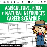 Careers Word Scramble - Ag, Food and Natural Resources Car