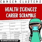 Careers Word Scramble - Health Sciences Career Cluster