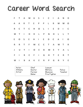 Careers Word Search