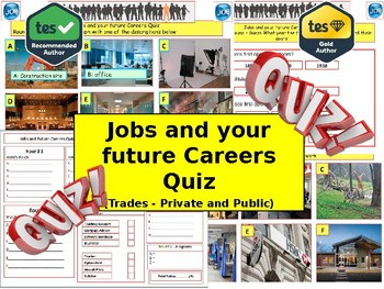 Careers and Jobs Quiz (Careers Quiz) - 7 rounds and 40+Qs