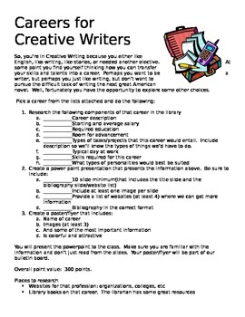 Careers for Creative Writers