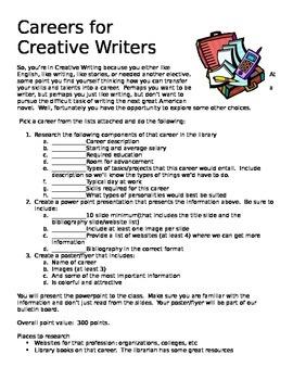 Careers for Creative Writers