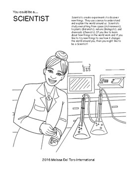 Careers for Little Sisters: A coloring book for inspiration (Volume 1)