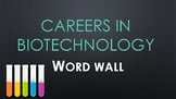 Careers in Biotechnology Word Wall