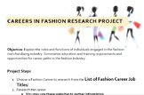 Careers in Fashion Research Project