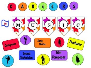 Careers in Music Bulletin Board / Door Decor