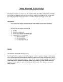 Careers in Psychology- Help Wanted Ad Activity