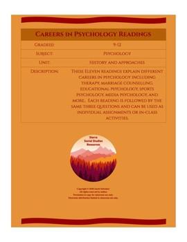 Careers in Psychology Readings