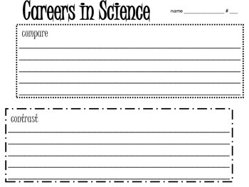 Careers in Science Research Project (Compare and Contrast)