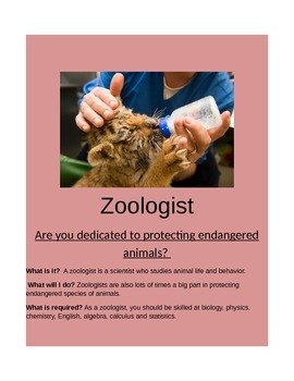 Careers in Science- Zoologist!