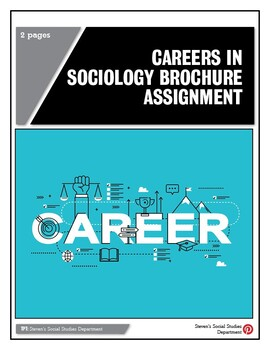 Careers in Sociology Brochure Assignment