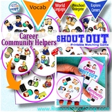 Careers spot the match Game Shout Out; Community Helpers, Occupations, People