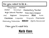 Careers that Need Math Poster
