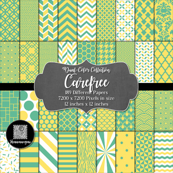 12x12 Digital Paper - Color Scheme Collection: Carefree (600dpi)