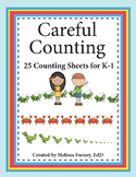 Careful Counting: 25 Counting Pages for K-1