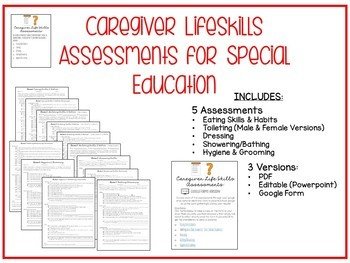 Caregiver Lifeskills Assessment Resource for Special Education