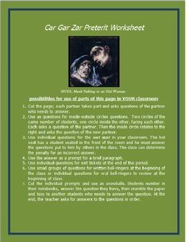 Cargarzar Preterit Worksheet #1 SPANISH