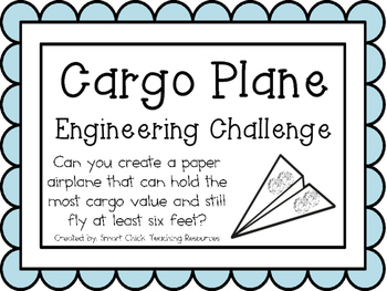 Cargo Plane: Engineering Challenge Project ~ Great STEM Activity!