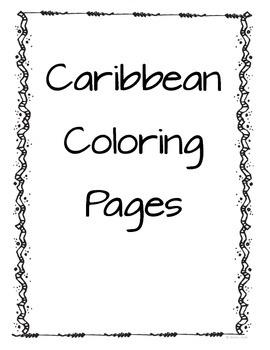 Caribbean Coloring Sheets