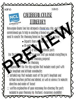 Caribbean Cruise Coordinates