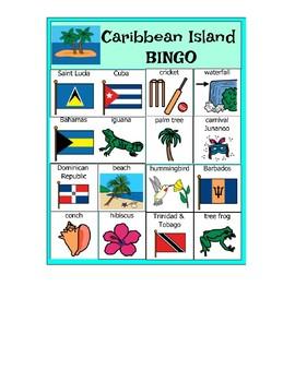 Caribbean Island BINGO