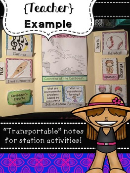 Caribbean Lapbook & Interactive Notes