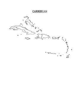Caribbean Map Blank by Pointer Education | Teachers Pay Teachers