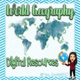 Caribbean and Central America Physical Map Digital Activity