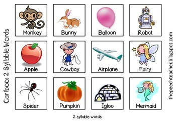Cariboo: 2,3,4 Multisyllable Words File