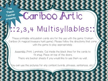 Cariboo: 2,3,4 Multisyllable Words File