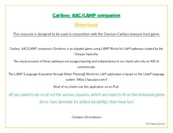 Cariboo: AAC LAMP Companion, EMOTIONS
