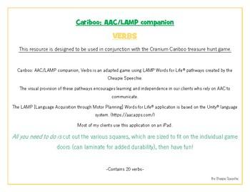 Cariboo: AAC/LAMP Companion, VERBS