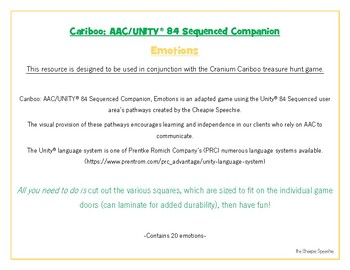 Cariboo: AAC UNITY 84 Sequenced Companion, EMOTIONS