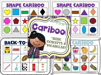 Cariboo Basic Concepts and Vocabulary (English or Spanish)