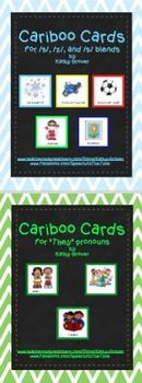 """Cariboo Cards Bundle:  /s/, /z/, & /s/ blends  AND  """"They"""""""