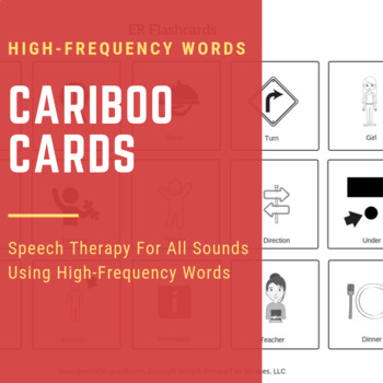 Cariboo Cards Using High-Frequency Words - All Sounds!!!