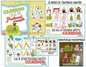 Cariboo Cards for Positional Concepts {2 sets + teaching materials}