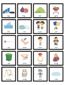 Cariboo Cards for Rhyming Words