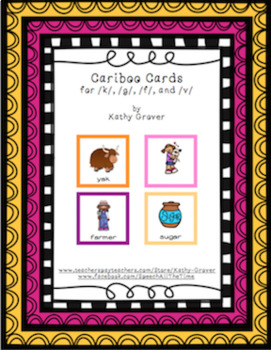 Cariboo Cards for /k/, /g/, /f/ & /v/