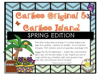 Cariboo & Cariboo Island for Spring: A Cranium Game Add-On