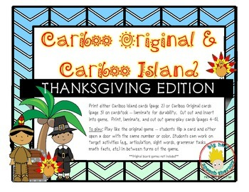 Cariboo & Cariboo Island for Thanksgiving: A Cranium Game Add-On