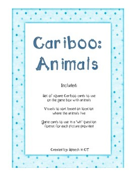 Cariboo Categories: Animals