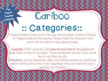 Cariboo Categories: Animals, Fruit, Vegetables, and Transp