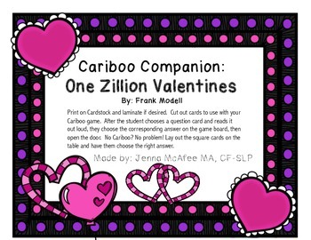 Cariboo Companion: One Zillion Valentines