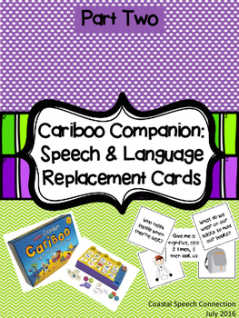 Cariboo Companion: Speech & Language Replacement Cards