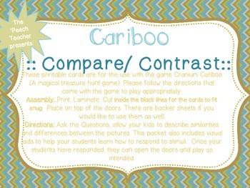 FREEBIE! Cariboo Compare and Contrast