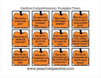 Cariboo Comprehension: Pumpkin Town